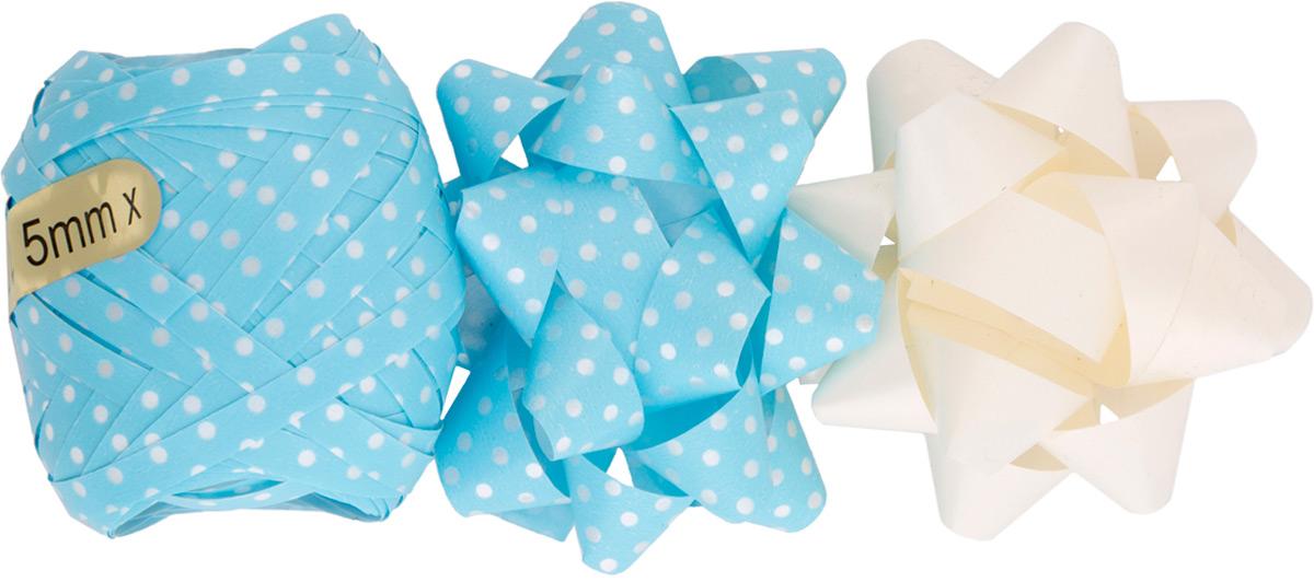 Набор для оформления подарков: декоративный бант из полипропилена на клеевом основании, размером 1,2*6 см (2шт), декоративная лента из полипропилена, шириной 0,5 см, длиной 10 м (1шт). Банты и лента добавят оригинальности любому подарку. Поиграйте с формой и цветом, проявите свою фантазию! Окружите близких людей вниманием и заботой, вручив презент в нарядном, праздничном оформлении!