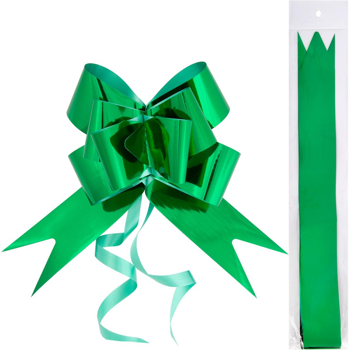 Бант – объемный и сверкающий, добавит оригинальности любому подарку. Поиграйте с формой и цветом, проявите свою фантазию! Окружите близких людей вниманием и заботой, вручив презент в нарядном, праздничном оформлении! Декоративный бант из полиэтилентерефталата, затягивающийся, с кольцами из поливинилхлорида для оформления подарков, шириной 5 см, длиной 85 см.