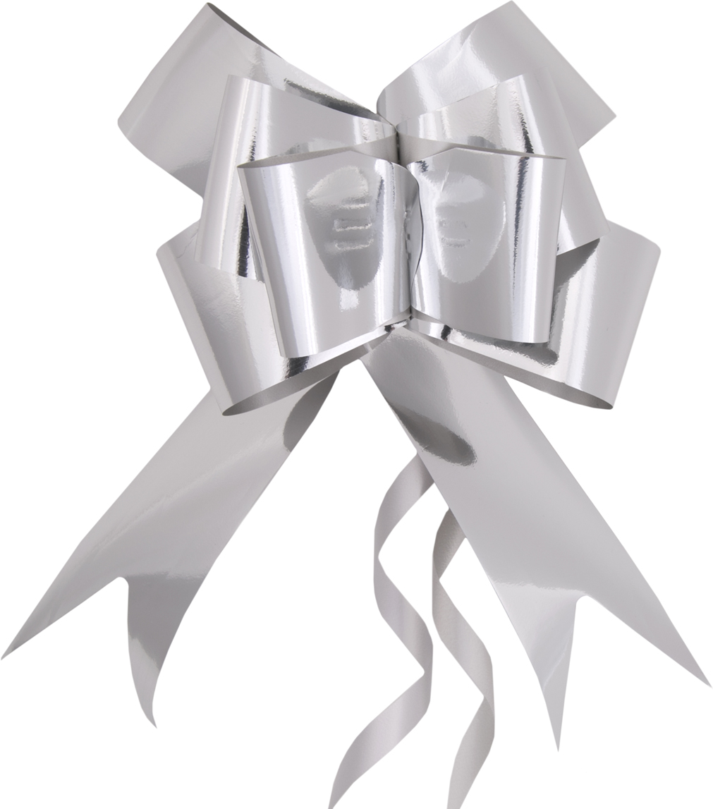 Бант – объемный и сверкающий, добавит оригинальности любому подарку. Поиграйте с формой и цветом, проявите свою фантазию! Окружите близких людей вниманием и заботой, вручив презент в нарядном, праздничном оформлении! Декоративный бант из полиэтилентерефталата, затягивающийся, с кольцами из поливинилхлорида, для оформления подарков, шириной 5 см, длиной 157 см.