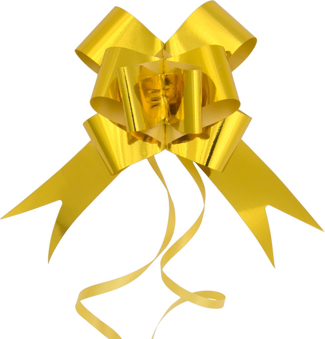 Бант декоративный Magic Home, для оформления подарков. 7699276992Бант – объемный и сверкающий, добавит оригинальности любому подарку. Поиграйте с формой и цветом, проявите свою фантазию! Окружите близких людей вниманием и заботой, вручив презент в нарядном, праздничном оформлении! Декоративный бант из полиэтилентерефталата, затягивающийся, с кольцами из поливинилхлорида, для оформления подарков, шириной 5 см, длиной 157 см.