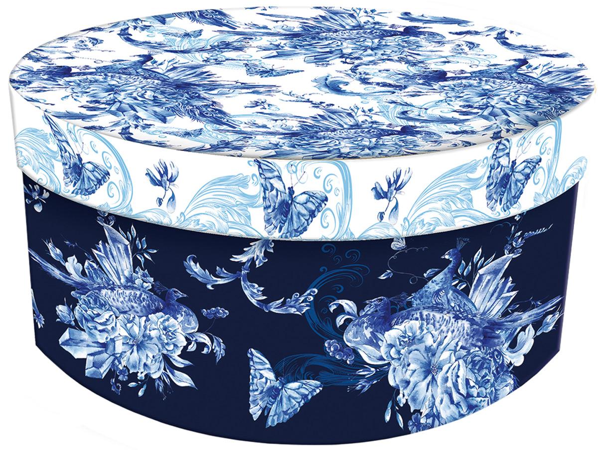 Коробка подарочная Magic Home Голубые цветы. 77310 подарочные коробки magic home коробка подарочная прованс m 20х14х6см