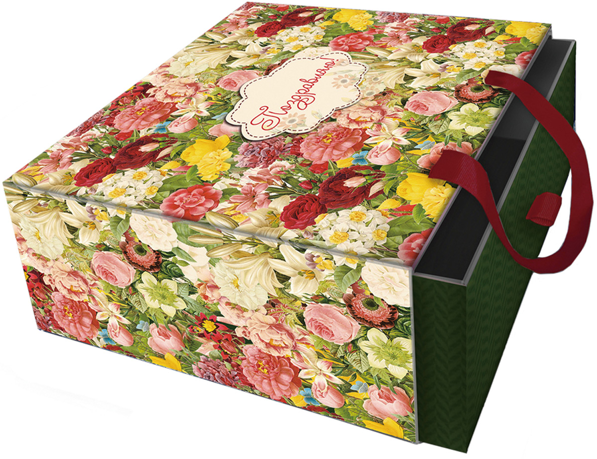 Коробка подарочная Magic Home Райский сад. 7731877318Подарочная коробка Райский сад из мелованного, ламинированного, негофрированного картона плотностью 1100 г/м2, с полноцветным декоративным рисунком на внутренней и наружной части, с ручкой-лентой из тесьмы (полиэстер). Окружите близких людей вниманием и заботой, вручив презент в нарядном, праздничном оформлении!