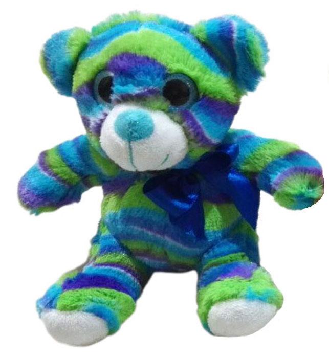 ABtoys Мягкая игрушка Медведь цвет голубой салатовый фиолетовый 15 см abtoys мягкая игрушка леопард 10 см