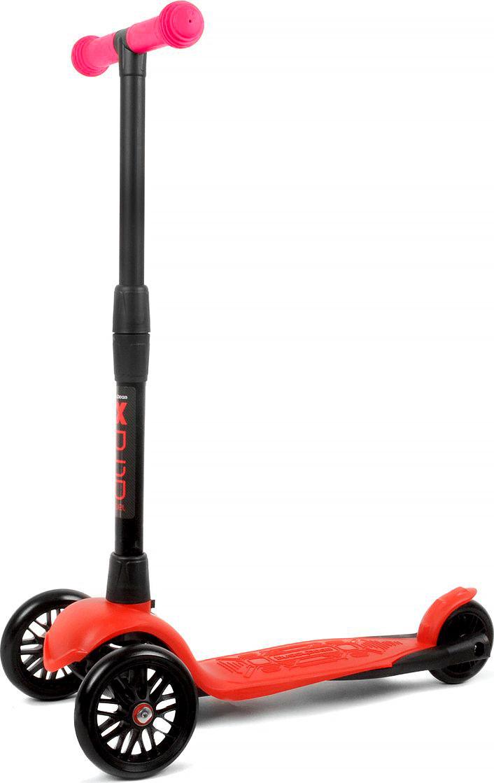 Детский самокат Buggy Boom Alfa Model, трехколесный, цвет: красный003-215877С трехколесным самокатом ваш ребенок сможет укрепить здоровье, просто наслаждаясь прогулкой. Он имеет надежную устойчивую конструкцию и ручки с противоскользящей поверхностью. Руль складывается и регулируется по высоте, колеса светятся. Катание на самокате развивает координацию.
