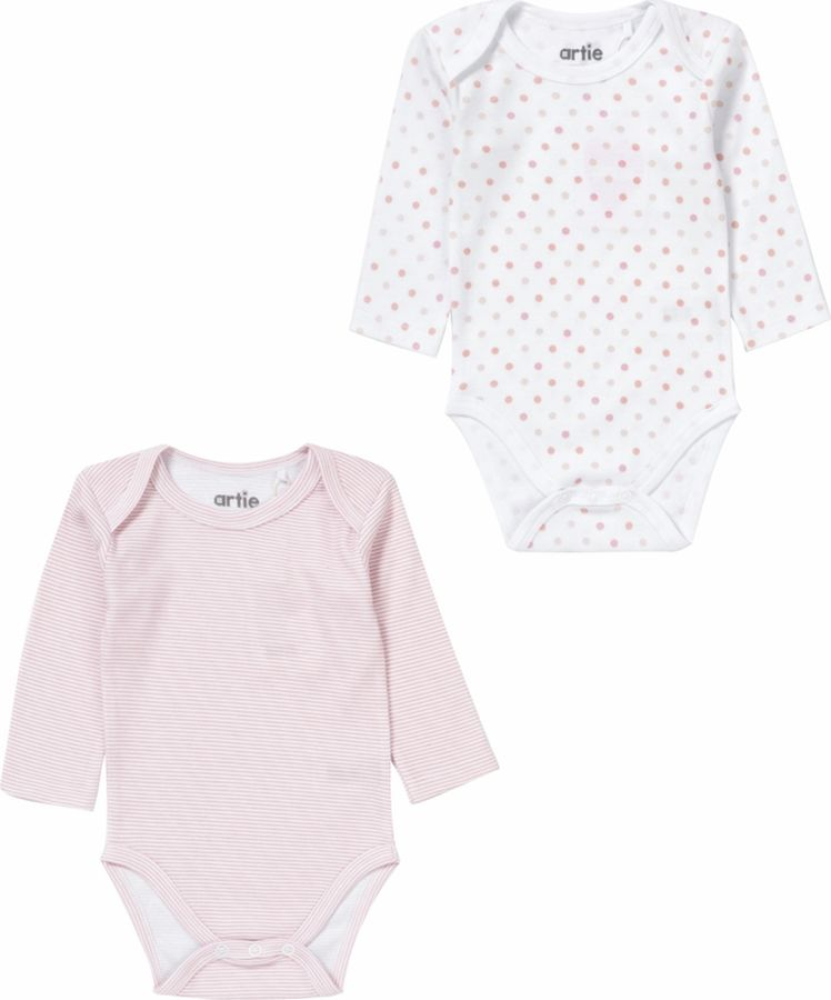Боди для девочки ARTIE, цвет: розовый, белый. 080081 роз-пол/бел. Размер 86