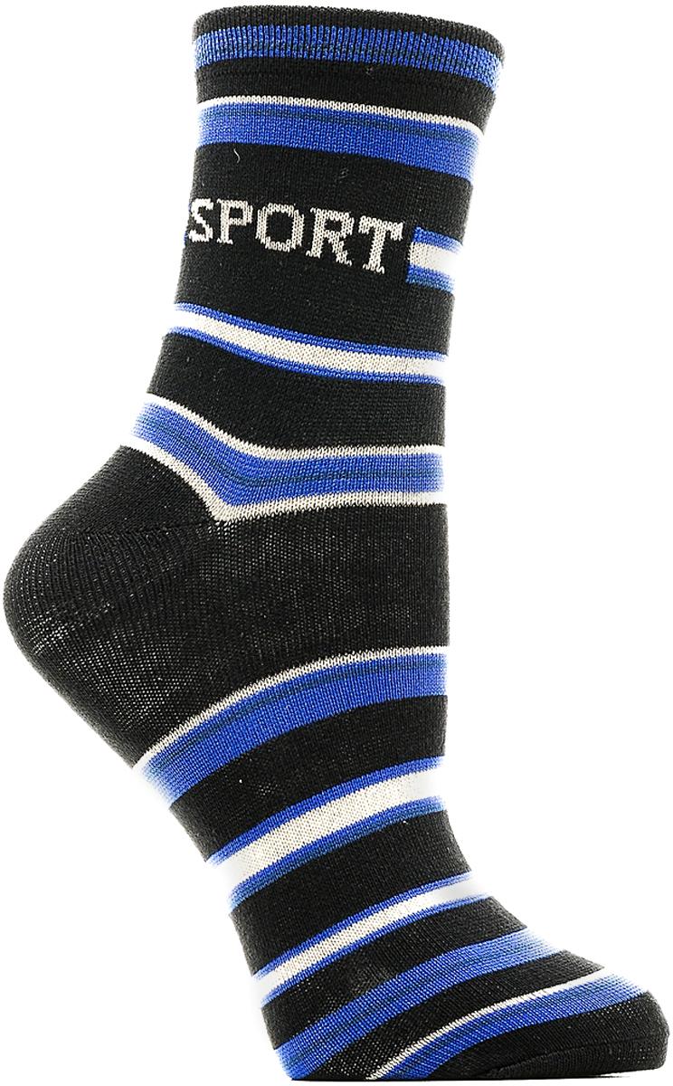 Носки детские Bio-Textiles, цвет: черный. T116. Размер 34/40