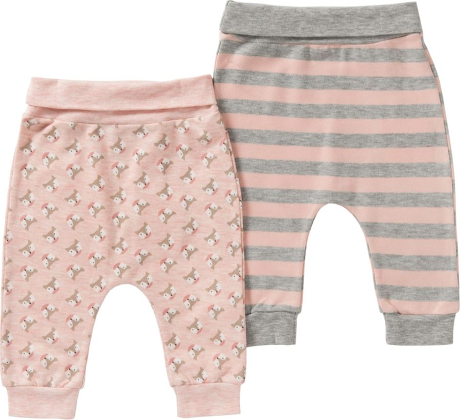 Брюки спортивные для девочки ARTIE, цвет: розовый. 083084 роз/роз-пол. Размер 80, Одежда для новорожденных  - купить со скидкой