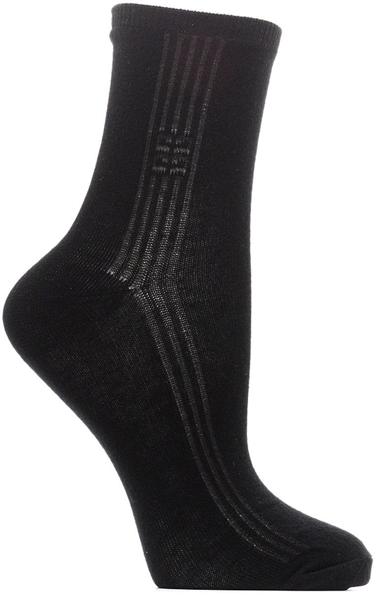 Носки женские Bio-Textiles, цвет: черный. W011. Размер 35/41