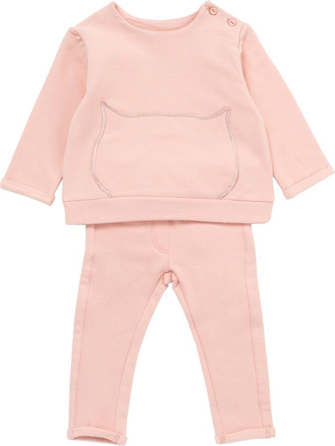 Комплект одежды для девочки ARTIE: футболка, брюки, цвет: розовый. 013027 роз/роз. Размер 86 комплект одежды для девочки мамуляндия шорты футболка цвет розовый 17 19003 размер 86