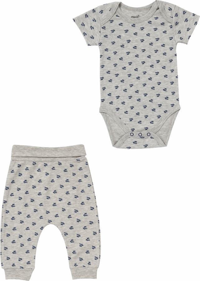 Комплект одежды для мальчика ARTIE: боди, брюки, цвет: серый меланж. 061071 сер/сер-меланж. Размер 56, Одежда для новорожденных  - купить со скидкой