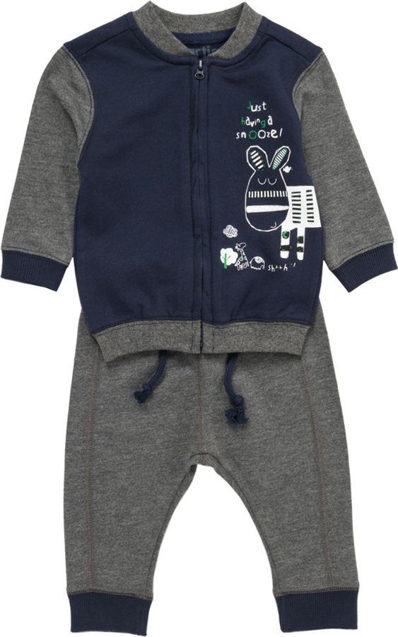 Комплект одежды для мальчика ARTIE: толстовка, брюки, цвет: серый, синий. 039040 сер-син/сер. Размер 86039040 сер-син/сер