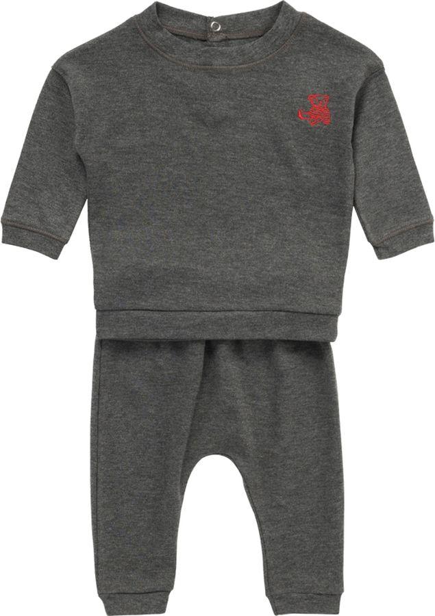 Комплект одежды для мальчика ARTIE: футболка, брюки, цвет: серый меланж. 090 сер-мел. Размер 86 аккумулятор для мототехники varta 14ач moto agm 514 901 022 ytx16 bs 1