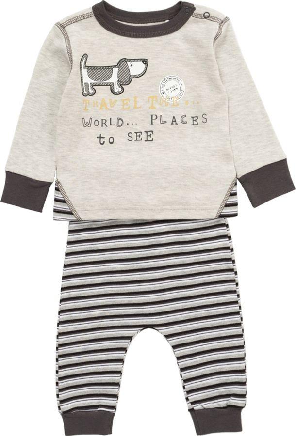 Комплект одежды для мальчика ARTIE: футболка, брюки, цвет: серый. 054055 сер/сер-пол. Размер 92054055 сер/сер-пол