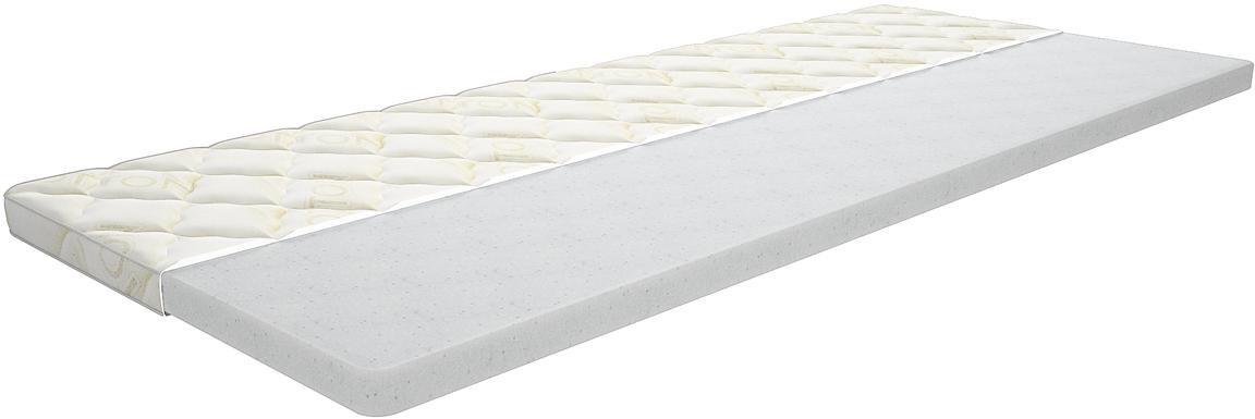 Топпер с чехлом IQ Sleep Comfort 3, 2-х спальный, цвет: белый, 140 х 200 х 5 см