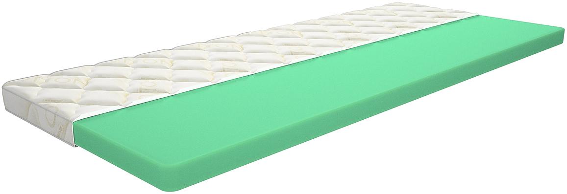 Топпер с чехлом IQ Sleep Comfort 6, 1,5 спальный, цвет: белый, 80  200   см
