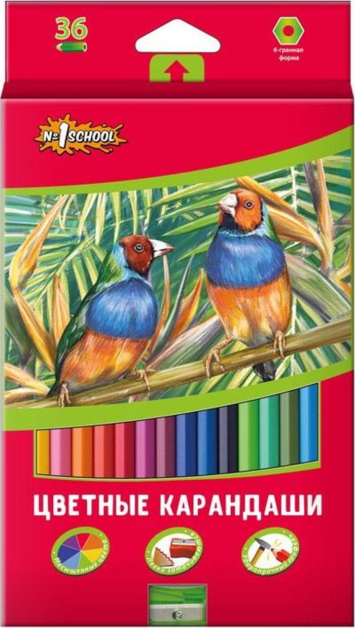 №1 School Набор цветных карандашей ColorPics с точилкой 36 шт666839Ударопрочные цветные карандаши имеют насыщенные цвета. Шестигранная форма корпуса снижает усталость ипридает дополнительный комфорт. Мягкий грифель проклеен повсей длине корпуса. Карандаши предназначены для детей от3-х лет. Длина каждого— 17,5см, толщина грифеля— 3мм. Данные карандаши сделаны извысококачественного материала.