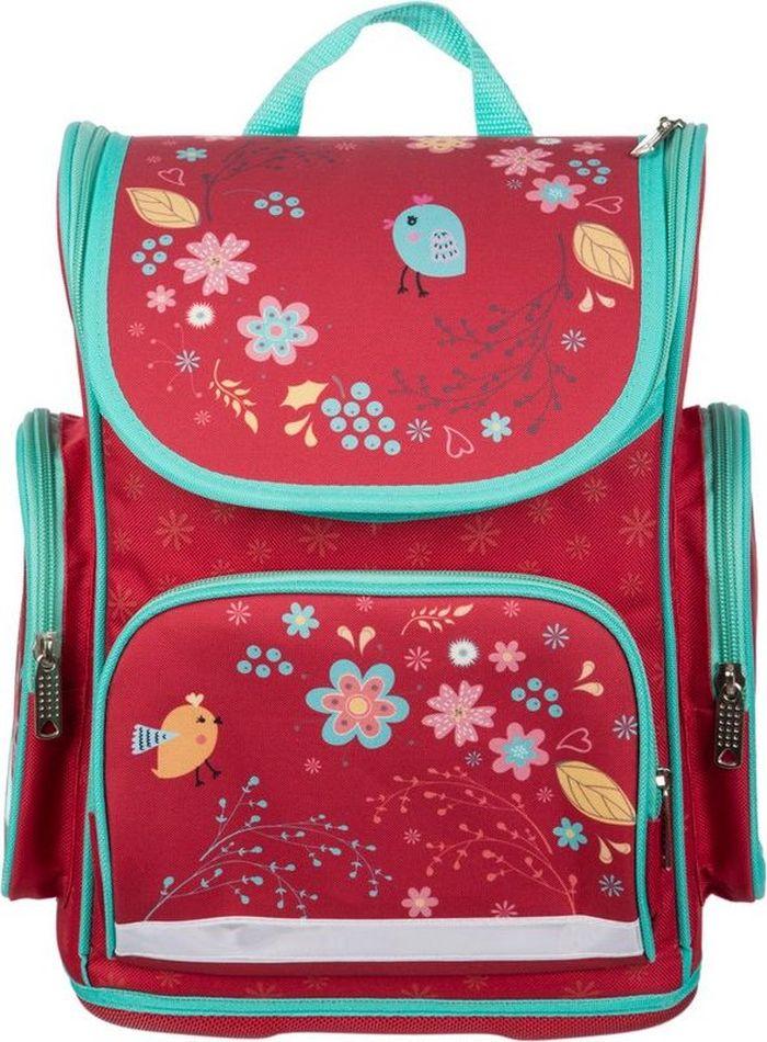 №1 School Ранец школьный Птички kite kite ранец школьный каркасный popcorn bear голубой