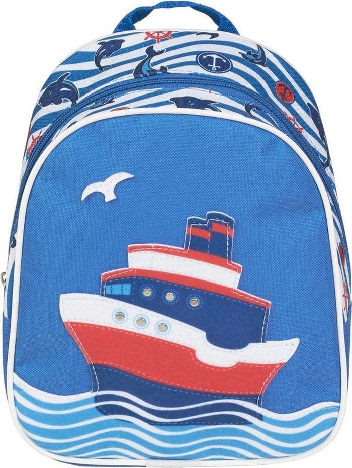 №1 School Рюкзак дошкольный Пароходик рюкзак детский proff жесткий говорящий том 38 29 21 см с 1 отделением на замке
