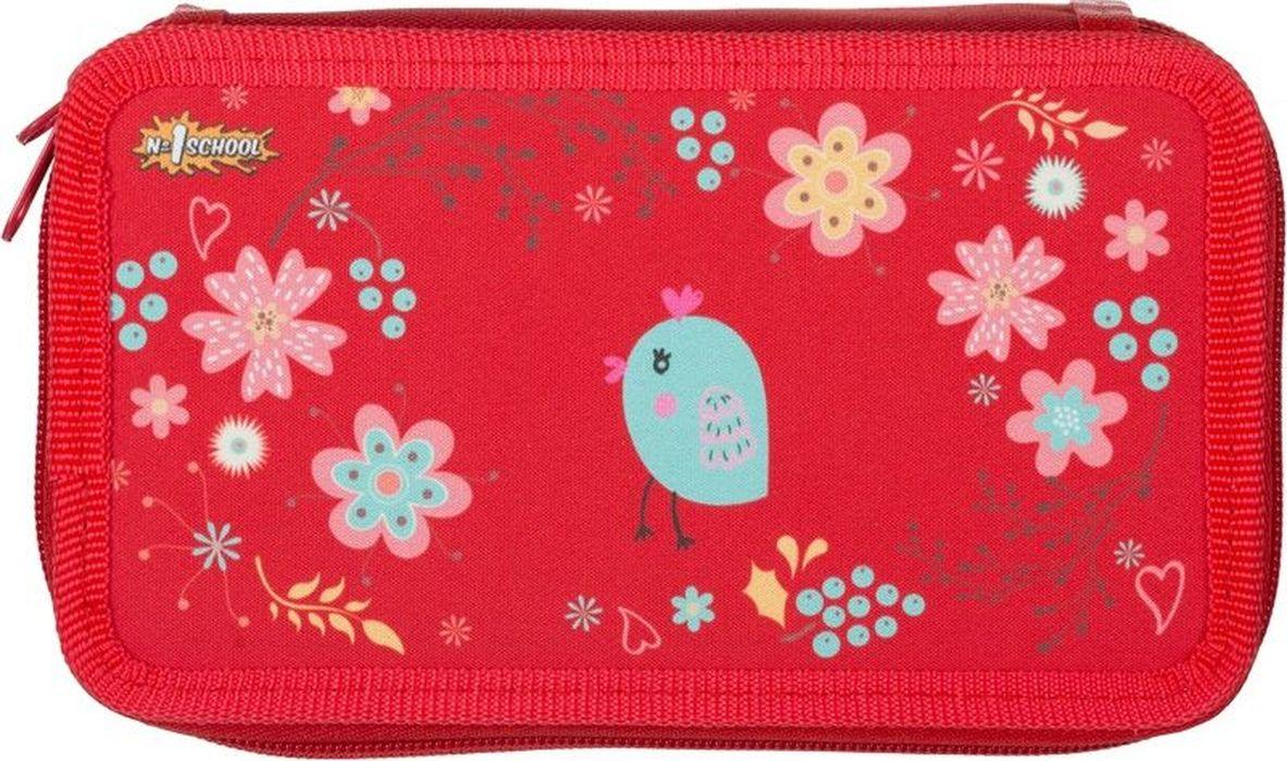 №1 School Пенал Птички699485Пенал трехсекционный для девочки «Птички» без наполнения. Вместительное отделение для канцелярских принадлежностей застегивается намолнию. Размеры пенала— 190?110мм.