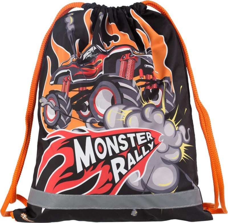 №1 School Мешок для сменной обуви Monster Rally699504Мешок для обуви. Размер стандартный— 330?420мм. Для всех возрастов.
