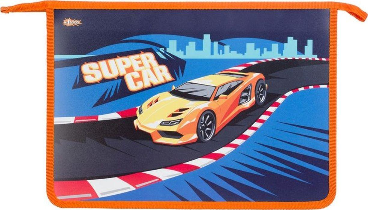 №1 School Папка для тетрадей Sport car А4 на молнии цены онлайн