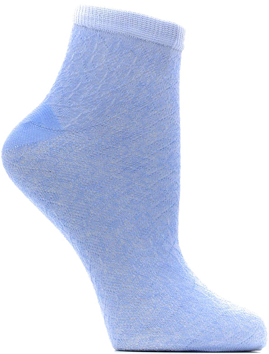 Носки женские Bio-Textiles, цвет: голубой. W015. Размер 35/41W015Женские носки Классик короткие с анатомической резинкой с двойным бортом