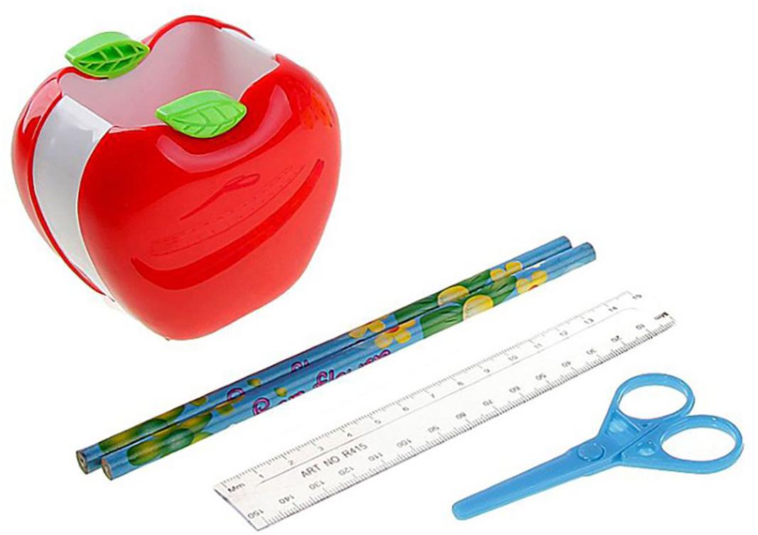 Канцелярский набор Яблоко цвет красный 5 предметов 160351160351Изделия данной категории необходимы любому человеку независимо от рода его деятельности. Канцелярский набор поможет организовать ваше рабочее пространство и время. Востребованные предметы в удобной упаковке будут всегда под рукой в нужный момент.В набор входит: 2кар, лин, ножн, подставка