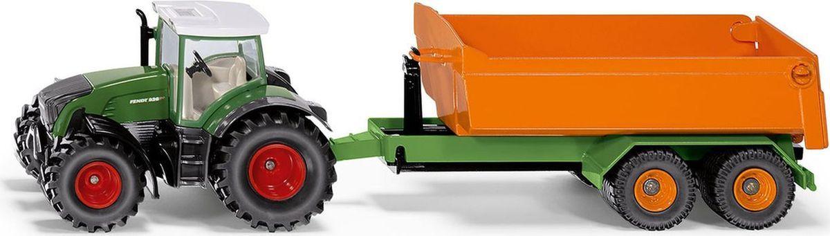 Siku Трактор Fendt с крюковым прицепом-кузовом модель трактора siku модель трактора с прицепом для скота 1640