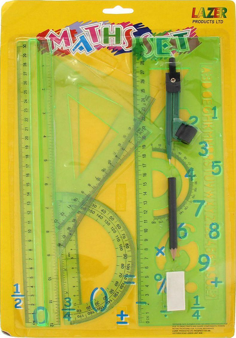 Геометрический набор цвет зеленый 7 предметов 167128, NoName