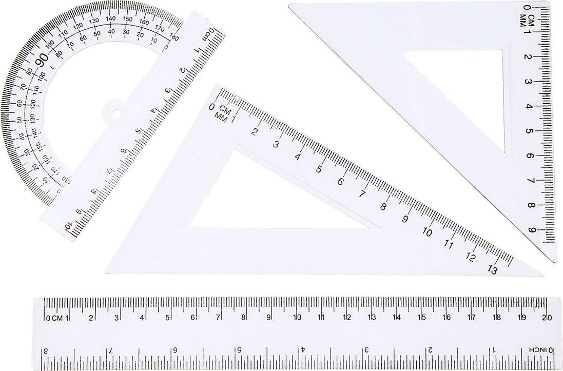 Геометрический набор цвет прозрачный 4 предмета 541268 berlingo геометрический набор средний цвет прозрачный флуоресцентный 4 предмета