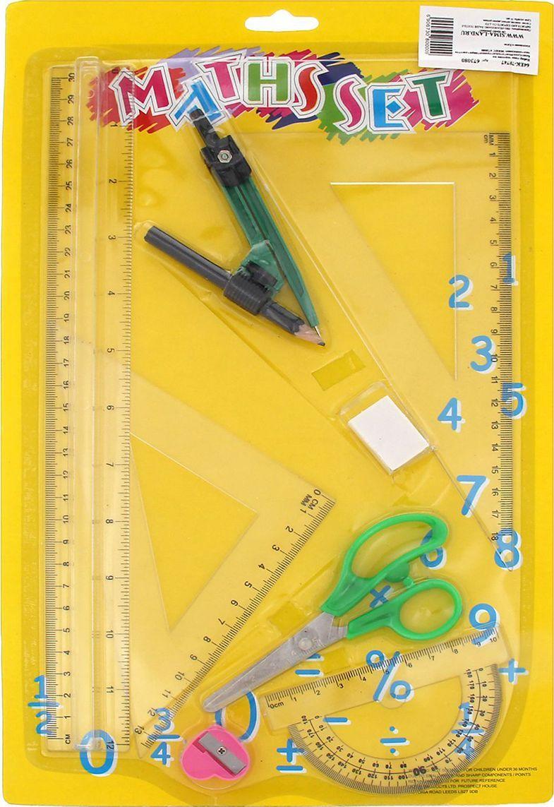 Геометрический набор цвет желтый 8 предметов 673080673080Набор геометрический — необходимый инструмент рабочего стола.Набор может понадобиться при изучении любого школьного предмета. Провести прямую линию и начертить отрезок на уроке математики? Легко! Подчеркнуть подлежащее, сказуемое или деепричастный оборот в домашнем задании по русскому языку? Проще простого!Возможности применения этого приспособления широки: оно пригодится как на занятиях в учебном заведении, так и при выполнении работы дома, а также поспособствует развитию начальных навыков черчения!В набор входит: линейка 30см, угольник, транспортир, циркуль, ластик, точилка, ножницы