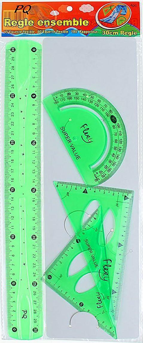 Геометрический набор гибкий цвет зеленый 4 предмета 13020601302060Набор геометрический — необходимый инструмент рабочего стола.Набор может понадобиться при изучении любого школьного предмета. Провести прямую линию и начертить отрезок на уроке математики? Легко! Подчеркнуть подлежащее, сказуемое или деепричастный оборот в домашнем задании по русскому языку? Проще простого!Возможности применения этого приспособления широки: оно пригодится как на занятиях в учебном заведении, так и при выполнении работы дома, а также поспособствует развитию начальных навыков черчения!В набор входит: линейка 30см , 2 угольника , транспортир