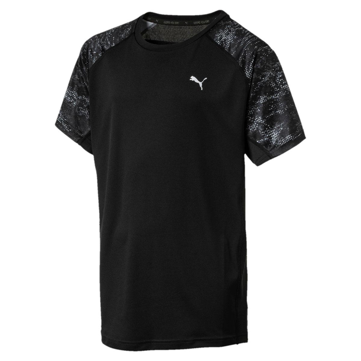 Футболка для мальчика Puma Gym AOP Tee, цвет: черный. 595072017. Размер 128595072017