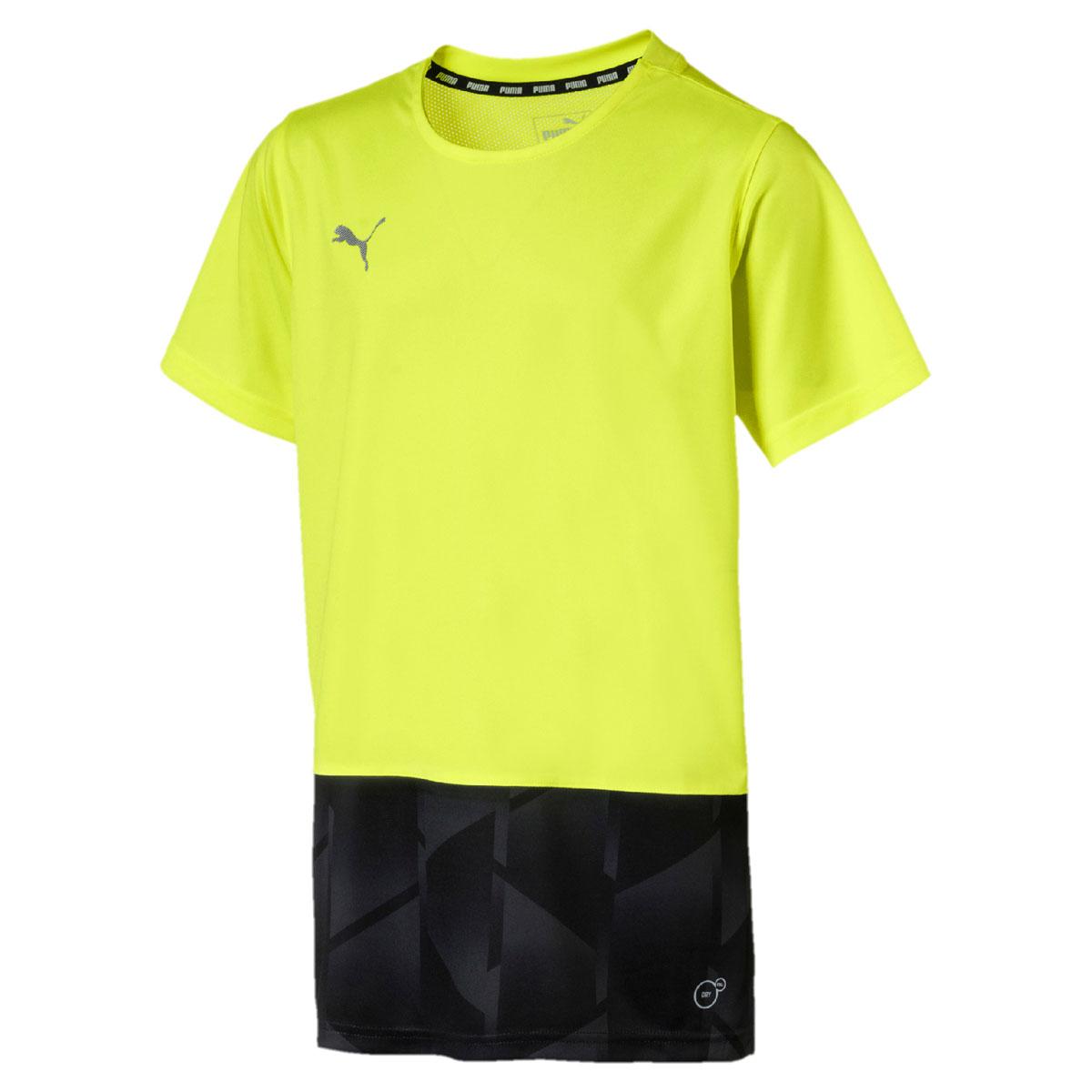 Футболка для мальчика Puma ftblNXT Graphic Shirt Jr, цвет: желтый, черный. 655560047. Размер 164 graphic print shirt