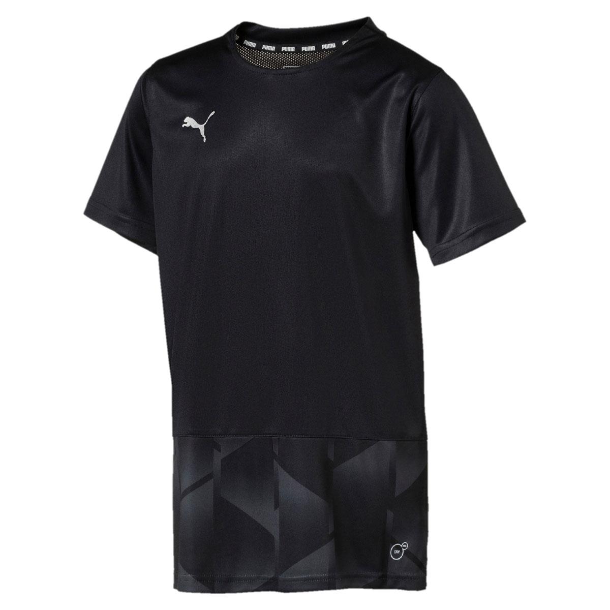 Футболка для мальчика Puma ftblNXT Graphic Shirt Jr, цвет: черный, темно-серый. 655560017. Размер 128