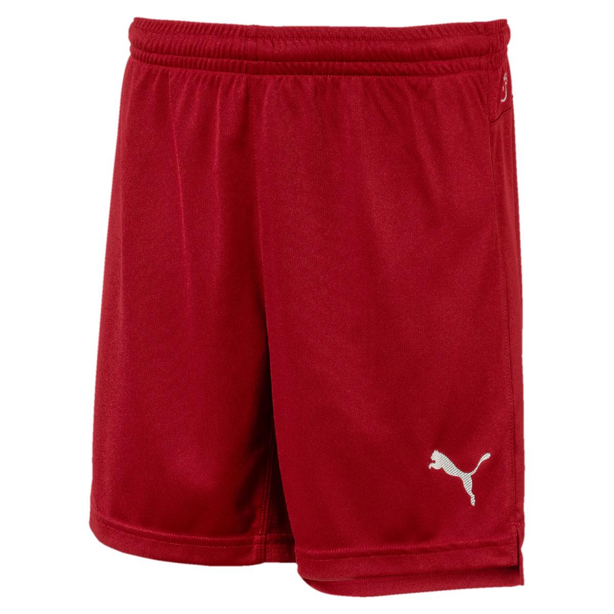 Шорты для мальчика Puma ftblNXT Shorts Jr, цвет: темно-красный. 65557402. Размер 152 игровая форма puma трусы футбольные puma esito shorts slip 70100102
