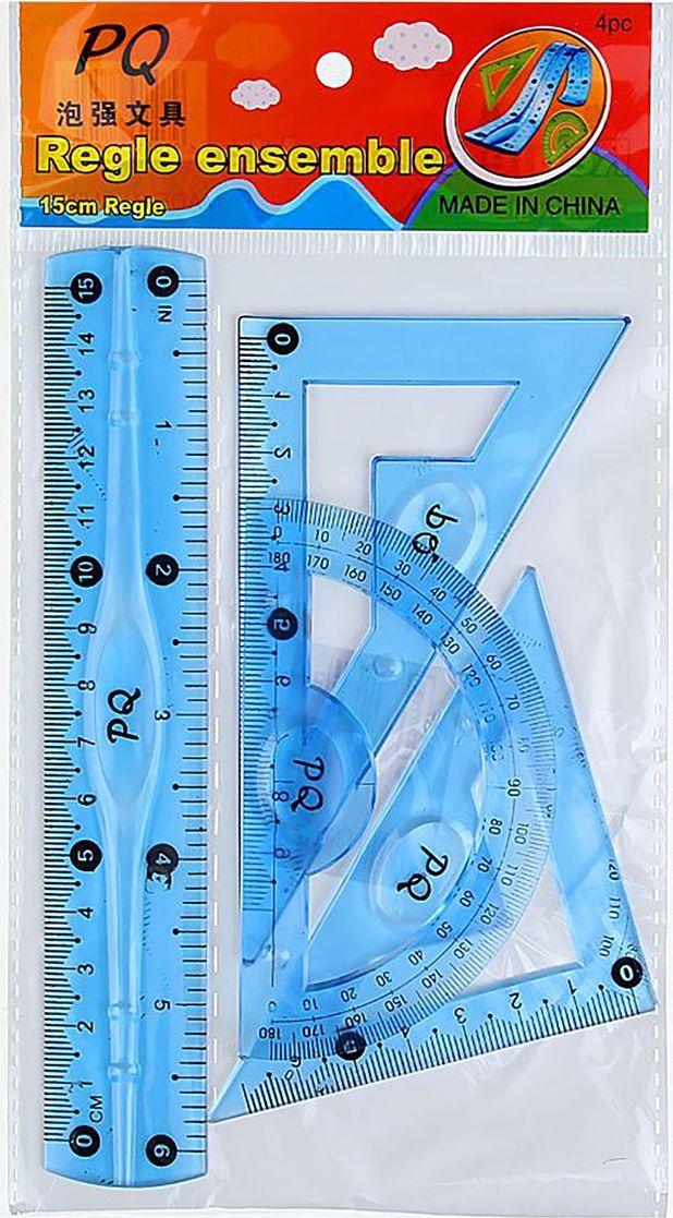 Геометрический набор гибкий цвет синий 4 предмета 13020581302058Набор геометрический — необходимый инструмент рабочего стола.Набор может понадобиться при изучении любого школьного предмета. Провести прямую линию и начертить отрезок на уроке математики? Легко! Подчеркнуть подлежащее, сказуемое или деепричастный оборот в домашнем задании по русскому языку? Проще простого!Возможности применения этого приспособления широки: оно пригодится как на занятиях в учебном заведении, так и при выполнении работы дома, а также поспособствует развитию начальных навыков черчения!В набор входит: линейка 15см , 2 угольника , транспортир