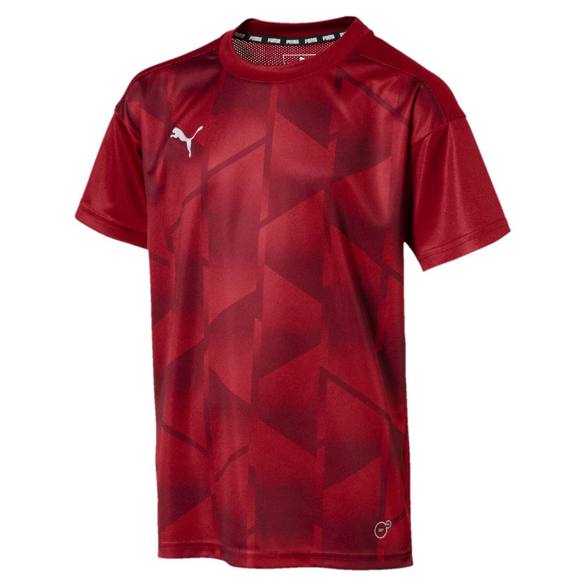 Футболка для мальчика Puma ftblNXT Graphic Tee Jr, цвет: темно-красный. 655758027. Размер 116655758027