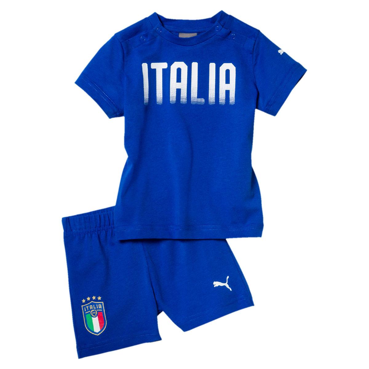 Спортивный костюм для мальчика Puma FIGC Italia Baby Set, цвет: лазурный. 75260801. Размер 104