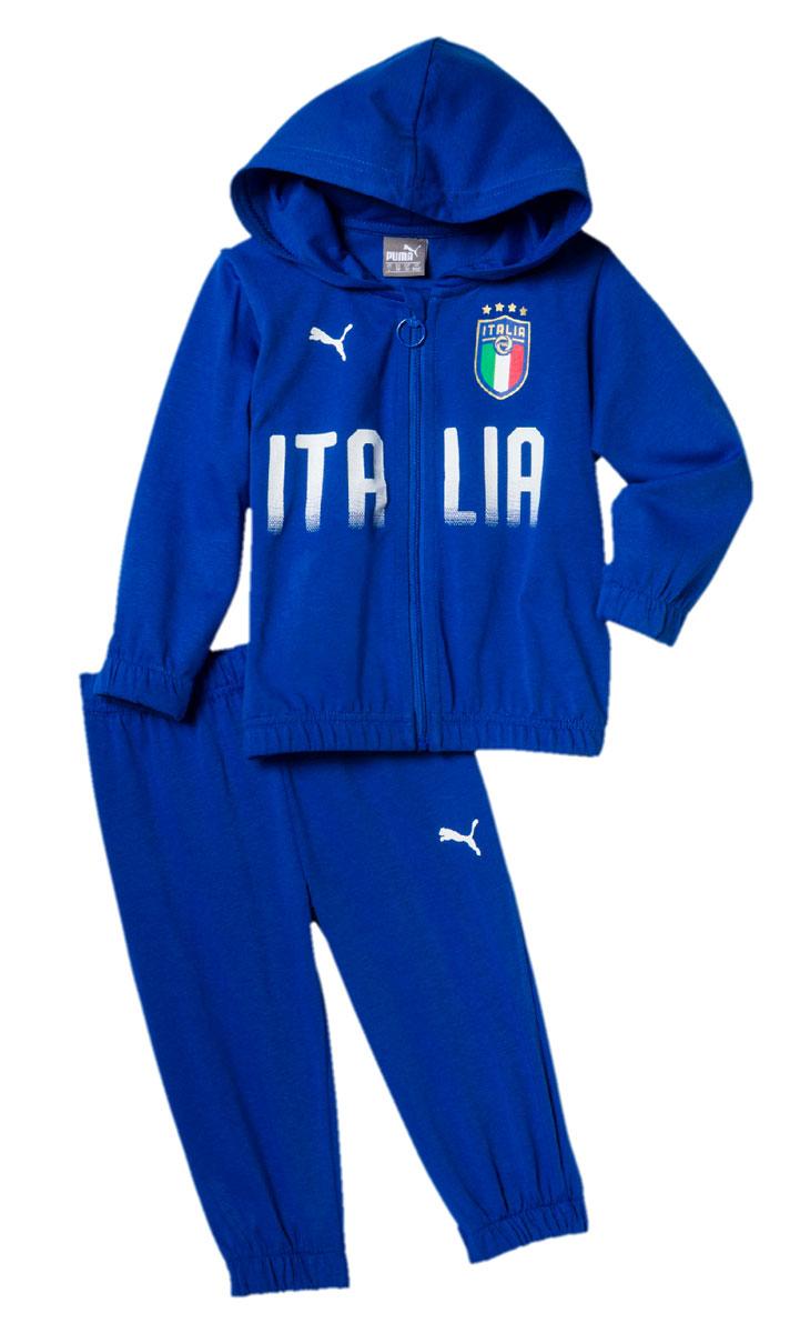 Спортивный костюм для мальчика Puma FIGC Italia Baby Jogger, цвет: лазурный. 75260901. Размер 8075260901