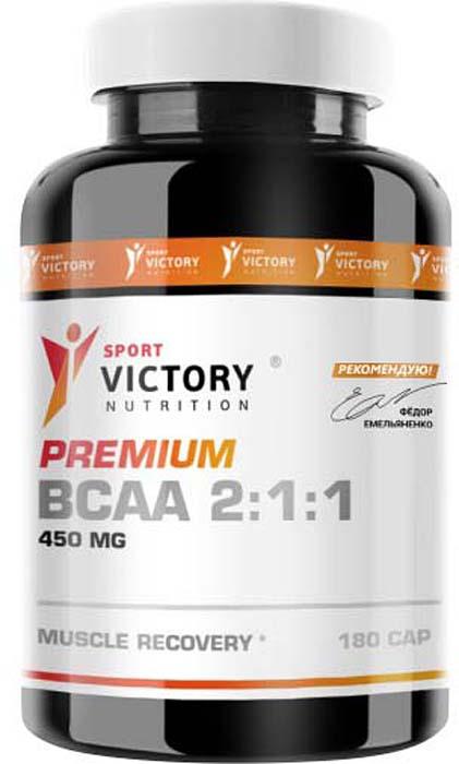 """Аминокислоты Sport Victory Nutrition """"Premium BCAA 2:1:1"""", 180 капсул"""