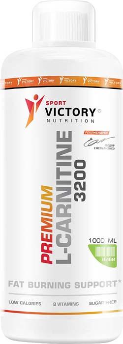 Карнитин Sport Victory Nutrition Premium L-Carnitine 3200, киви, 1 л l карнитин atech nutrition l carnitine concentrate 3000 вишня 500 мл