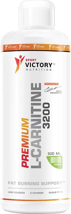 Карнитин Sport Victory Nutrition Premium L-Carnitine 3200, киви, 500 мл l карнитин sport victory nutrition premium l carnitine 3600 клубника 25 мл 20 шт