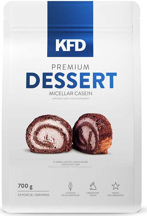 Казеин KFD Dessert, молочная карамель, 700 г5901947662182Premium Dessert Micellar Casein KFD Nutrition содержит чистый мицеллярный казеин, который, благодаря своей структуре, обеспечивает идеальный источник аминокислот и их последовательное высвобождения в кровоток (до 12 часов).Густой кисель и превосходный вкус делают Premium Dessert Micellar Casein идеальной заменой десерта или отдельного блюда (мицеллярный казеин вместо ужина). Наш продукт содержит 100% чистый мицеллярный казеин, без добавок низкого качества фракций казеина, такие как казеинат кальция. Отличный вкус соответствует лучшее качество. Premium Dessert не содержит аспартам или другие добавки (искусственные красители, отмеченные и наполнители), которые оказывают влияние на ваше здоровье.Одна порция равна 24 грамма полноценного протеина и обеспечивает равномерное и последовательное высвобождение аминокислот в кровь.Состав: СостаPremium Dessert Micellar Casein KFD Nutrition: (1 порция = 1 мерная ложка с горкой (30 гр)): Состав на 100 г: Энергетическая ценность 347ккал. (1453 кдж) Белок 80 г Жиры 1,39 г в том числе насыщенные жирные кислоты 0,87 г Углеводы 3.7 г в том числе сахар 3.7г Натрий 0,5г Состав на 30 г (одна порция): Энергетическая ценность 105 ккал (439 кдж) Белок 24 г Жиры 0,42 г в том числе насыщенные жирные кислоты 0,26 г Углеводы 1,1 г в том числе сахар 1,1 г Натрий 0,15 г Ингредиенты: Мицеллярный казеин, какао (для вкуса) шоколада, аморфофаллус камедь, ароматические вещества (отсутствует в природном варианте вкус), регулятор кислотности - лимонная кислота, соль, подсластители (отсутствует в естественной версии вкус) - сукралоза и сахарин натрия.в: …