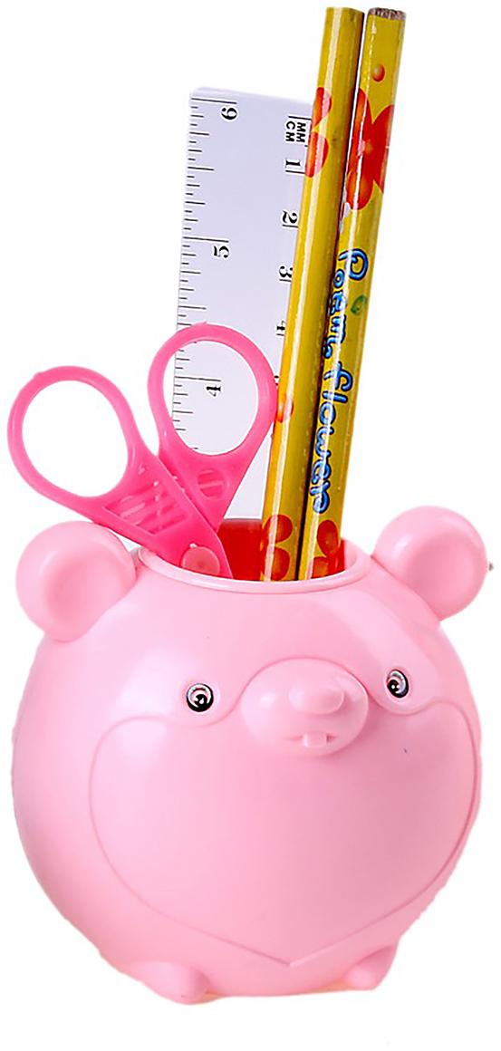Канцелярский набор Мышка цвет розовый 5 предметов 550125550125Изделия данной категории необходимы любому человеку независимо от рода его деятельности. Канцелярский набор поможет организовать ваше рабочее пространство и время. Востребованные предметы в удобной упаковке будут всегда под рукой в нужный момент.В набор входит: 2кар, лин, ножн,подставка