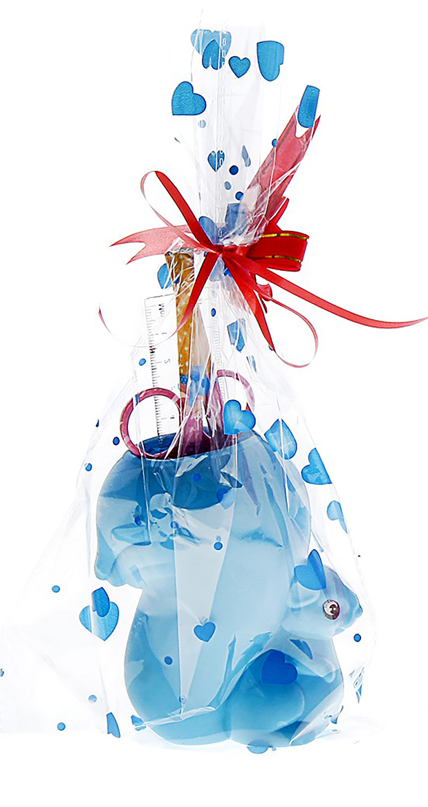 Канцелярский набор Белочка цвет голубой 5 предметов 550128