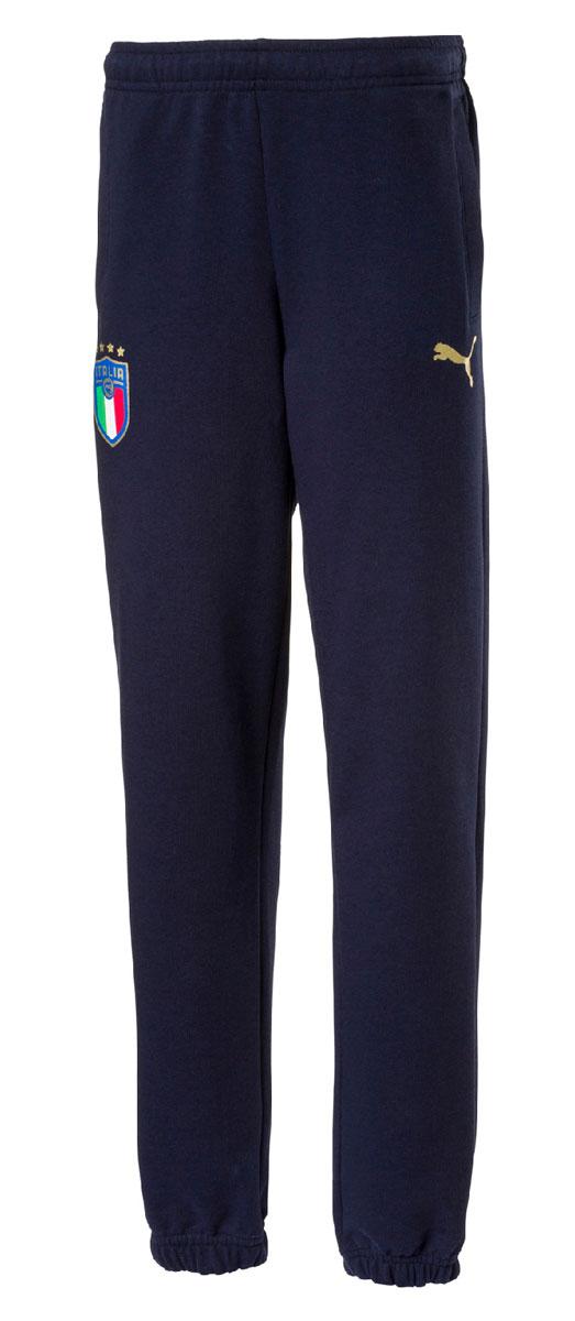 Брюки спортивные для мальчика Puma FIGC Italia Sweat Pants Jr, цвет: синий. 752874107. Размер 164 бейсболка для мальчика puma minions suede flatbrim jr цвет черный 02147701 размер универсальный