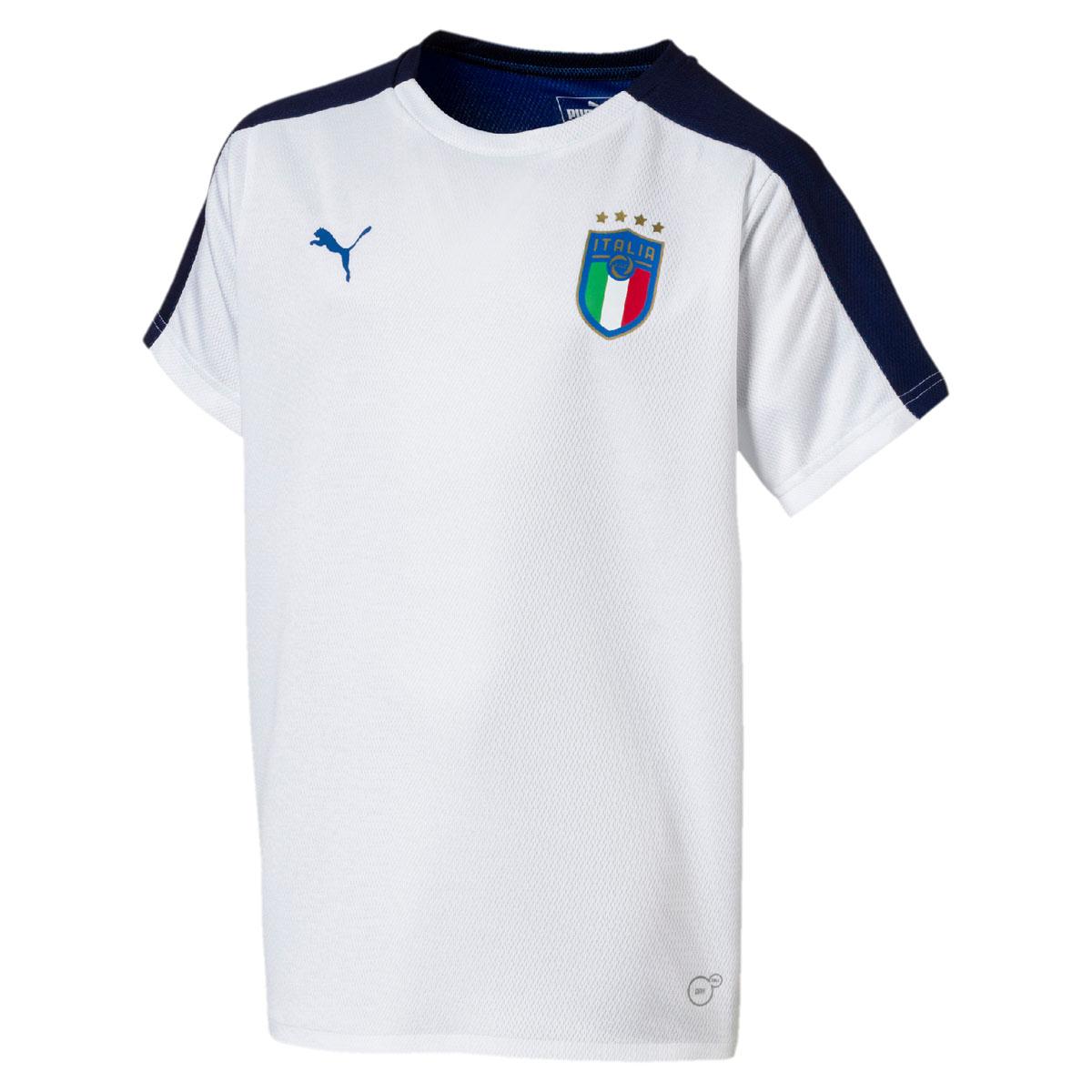 Футболка для мальчика Puma FIGC Italia Jersey SS Jr, цвет: белый. 753102027. Размер 164 бейсболка для мальчика puma minions suede flatbrim jr цвет черный 02147701 размер универсальный