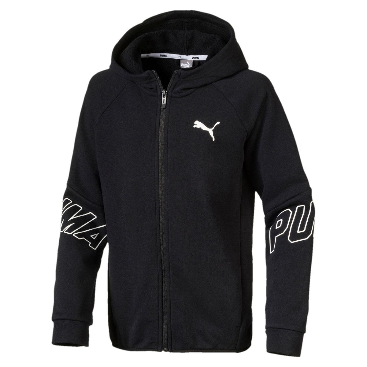 Толстовка для мальчика Puma Style FZ Hoody, цвет: черный. 850176017. Размер 152 стоимость