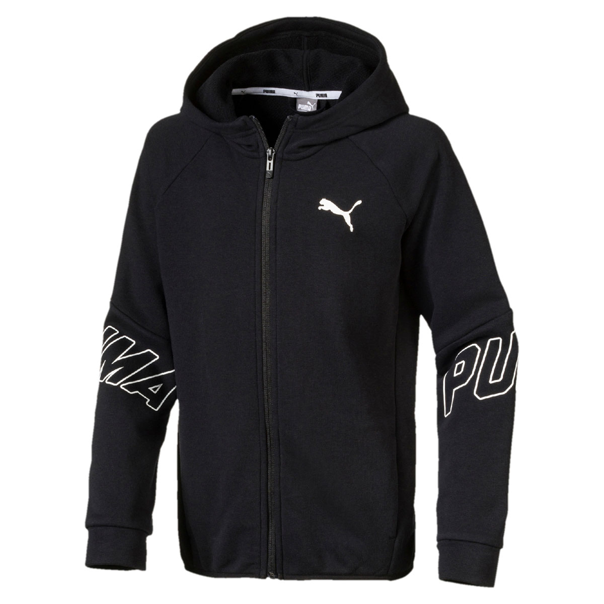 Толстовка для мальчика Puma Style FZ Hoody, цвет: черный. 850176017. Размер 152 original new arrival 2018 puma pace primary fz hoody men s jacket sportswear